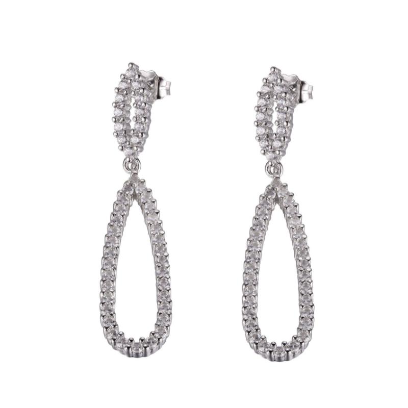 Reign Sterling Silver Drop Earrings