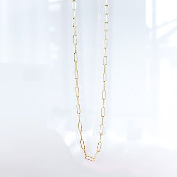 """10K Yellow Gold Paperclip Chain (18"""")"""