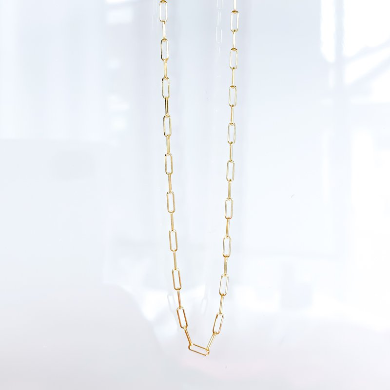 "Tecimer & Johns 10K Yellow Gold Paperclip Chain (18"")"