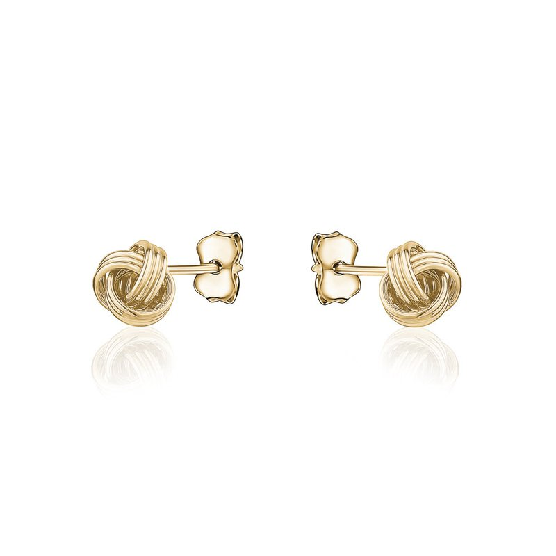 Tecimer & Johns Yellow Gold Knot Stud Earrings