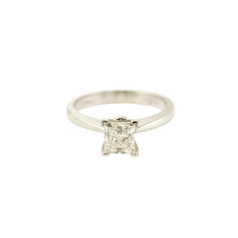 HJ Collection 1.01CT Princess Cut Solitaire Engagement Ring