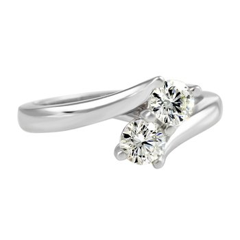 Forever Ice™ Duet Solitaire Diamond Ring