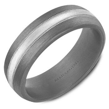 Tantalum & White Gold Wedding Band