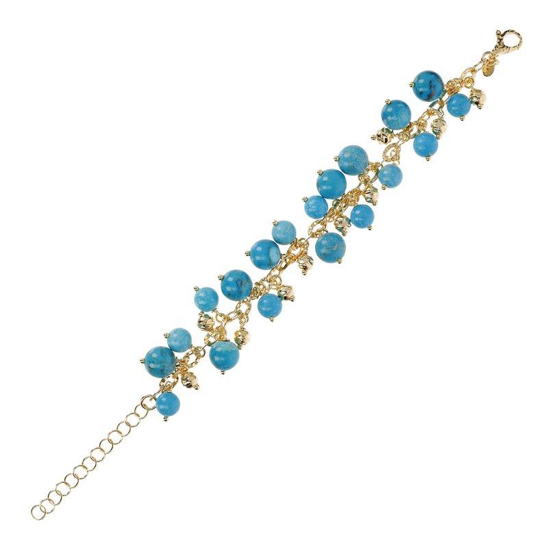 Etrusca Gioielli Turquoise & Bead Bracelet