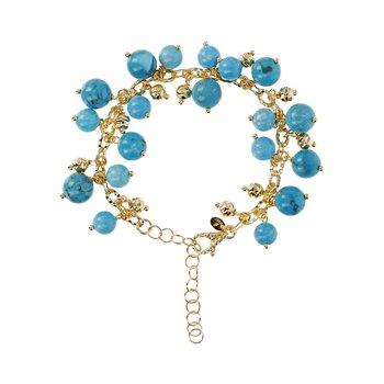 Turquoise & Bead Bracelet