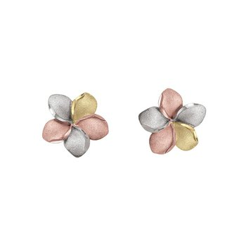 Tri-Tone Flower Studs