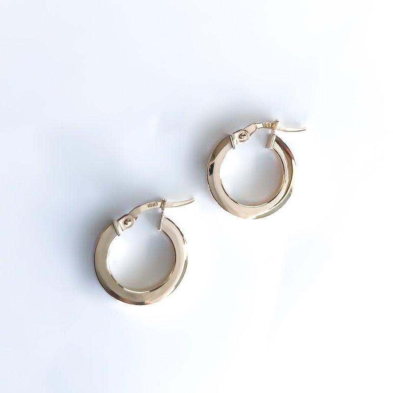 Tecimer & Johns Yellow Gold Hoop Earrings (15mm)