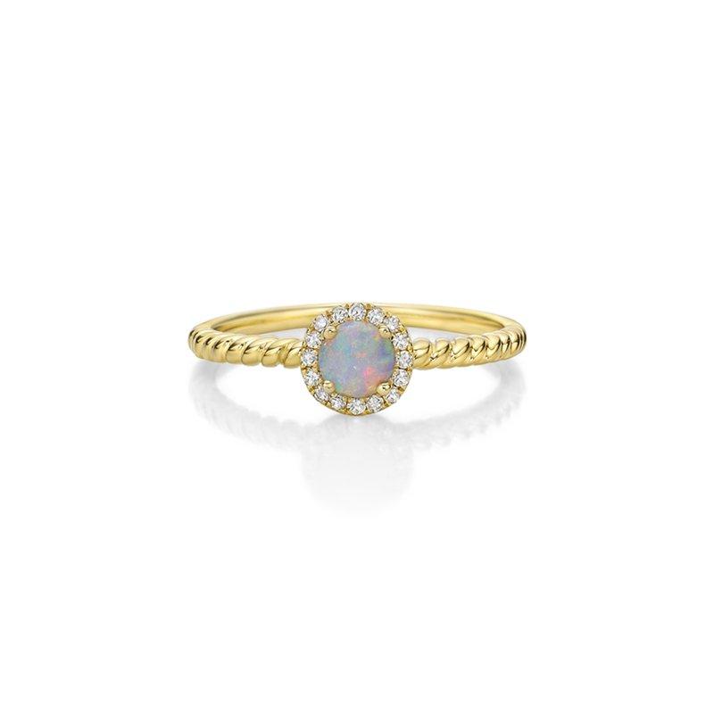 Karat Imports Opal & Diamond Stackable Ring