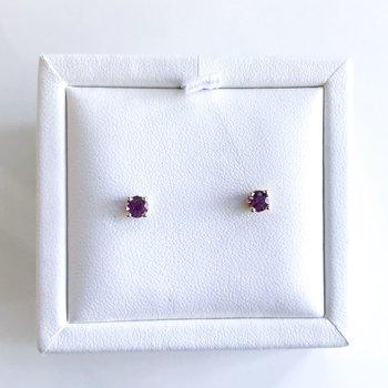 Violet Sapphire Stud Earrings