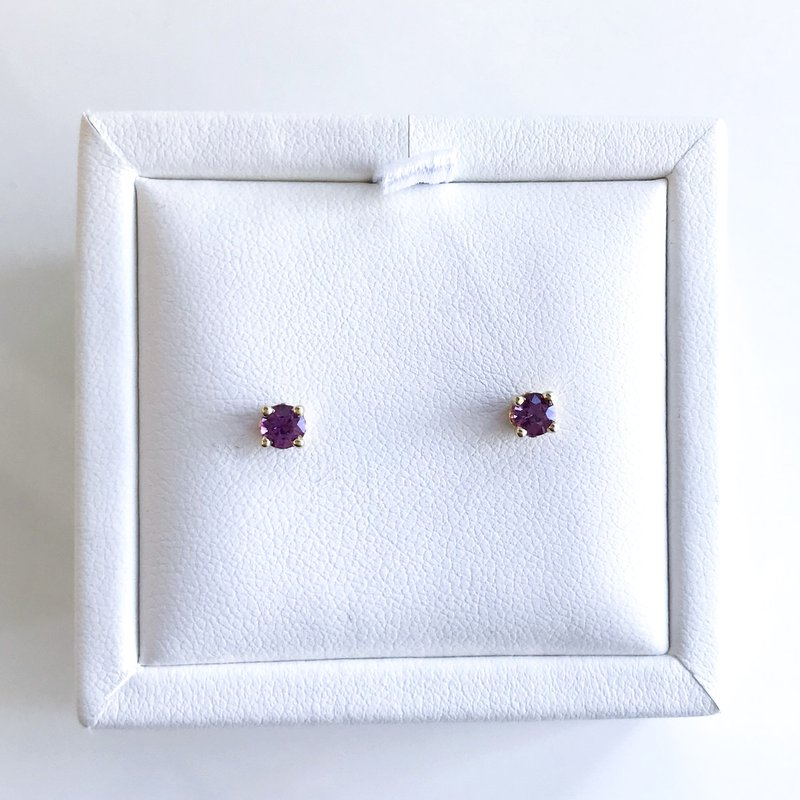 HJ Gemstone Collection Violet Sapphire Stud Earrings