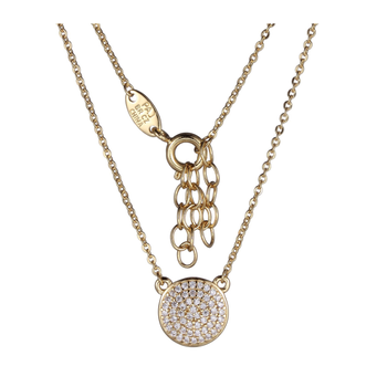 Gold Plated Micro Pave Cubic Zirconia Necklace