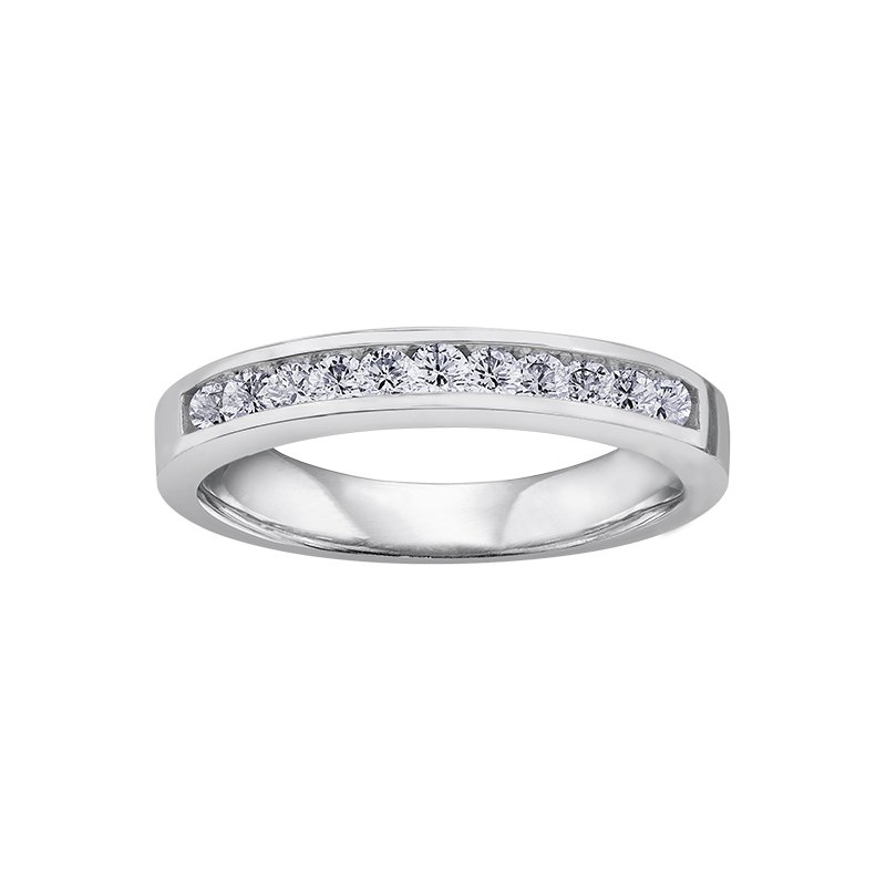 Corona Diamond Wedding Band