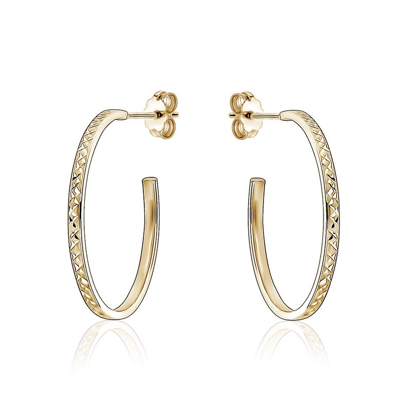 Tecimer & Johns Patterned Gold Hoop Earrings