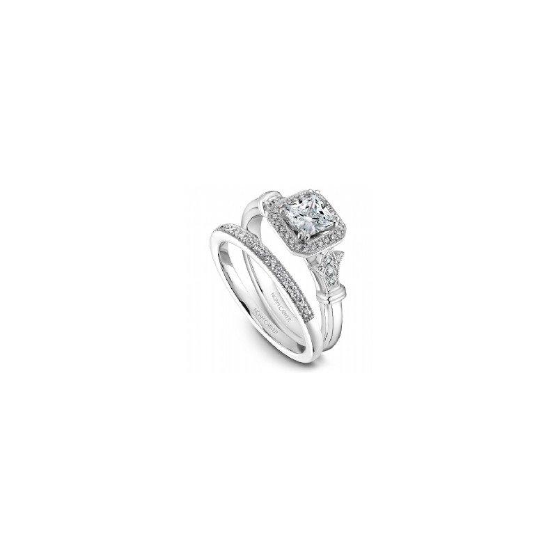 Noam Carver 0.33CT Princess Cut Halo Engagement Ring