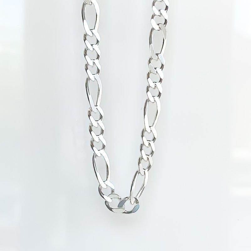 Tecimer & Johns Sterling Silver Figaro Chain