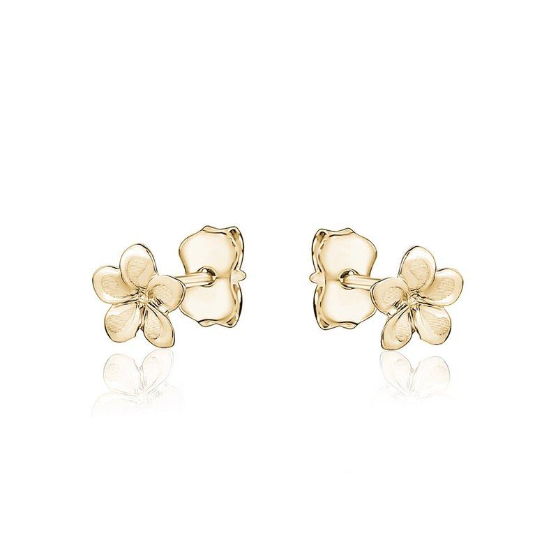 Tecimer & Johns Gold Flower Stud Earrings