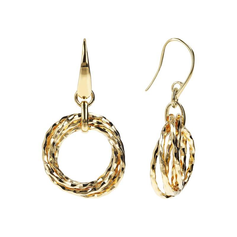 Etrusca Gioielli Interlocking Multi-Ring Drop Earrings