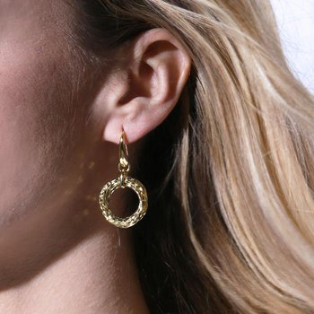 Interlocking Multi-Ring Drop Earrings