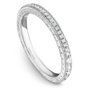 Diamond & Engraved Wedding Band