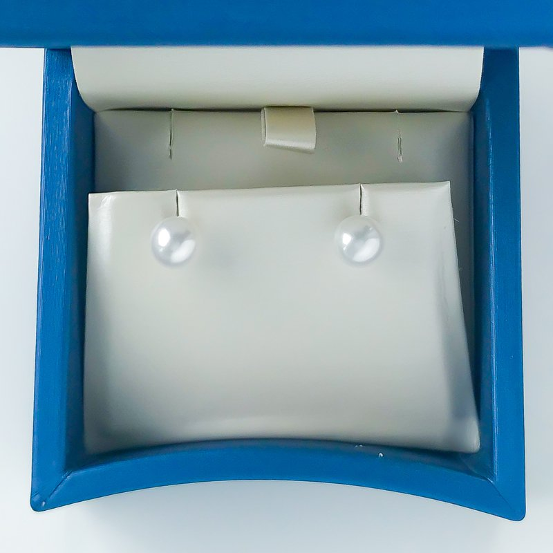 HJ Pearl Collection 14KW Freshwater Pearl Studs (7 - 7.5mm)