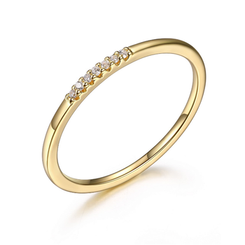 Dainty Yellow Gold Plated Ring