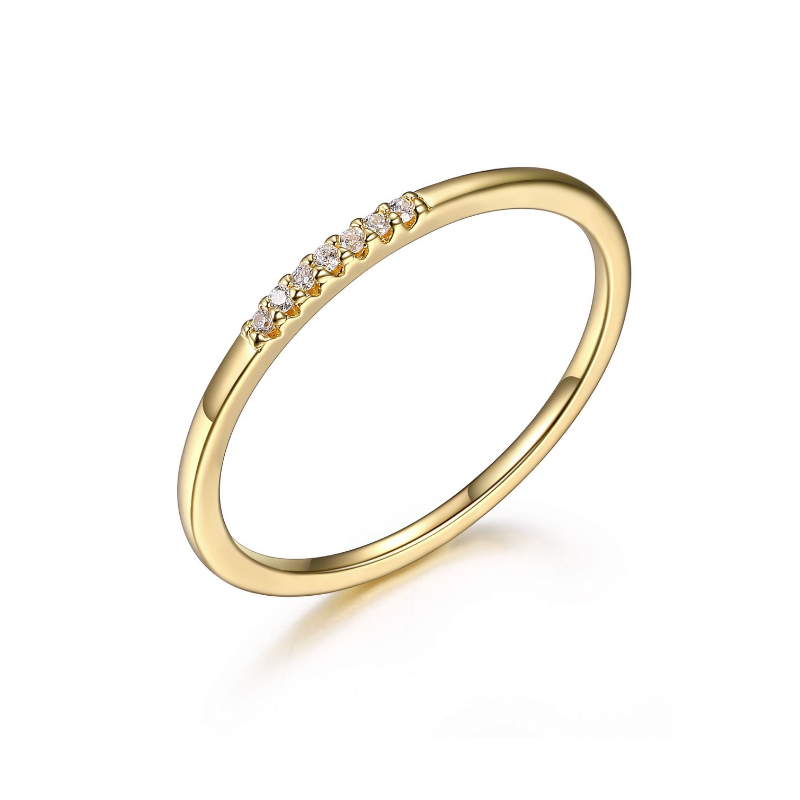 Reign Dainty Yellow Gold Plated Ring