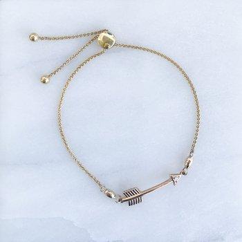 Canadian Diamond Arrow Bolo Bracelet