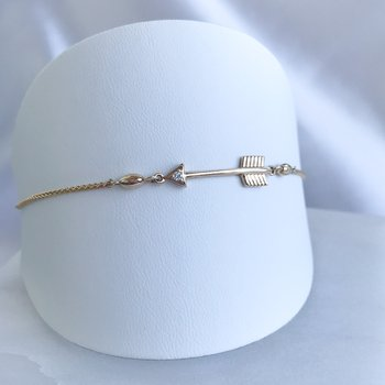 Canadian Diamond Arrow Bolo Bracelet