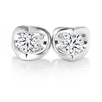 0.40CT Diamond Stud Earrings