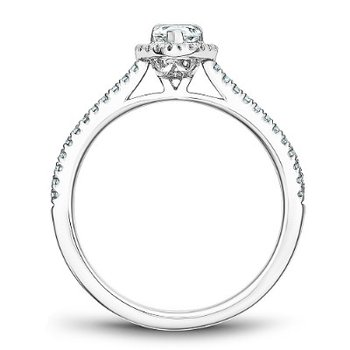 0.33CT Pear Shaped Halo Engagement Ring