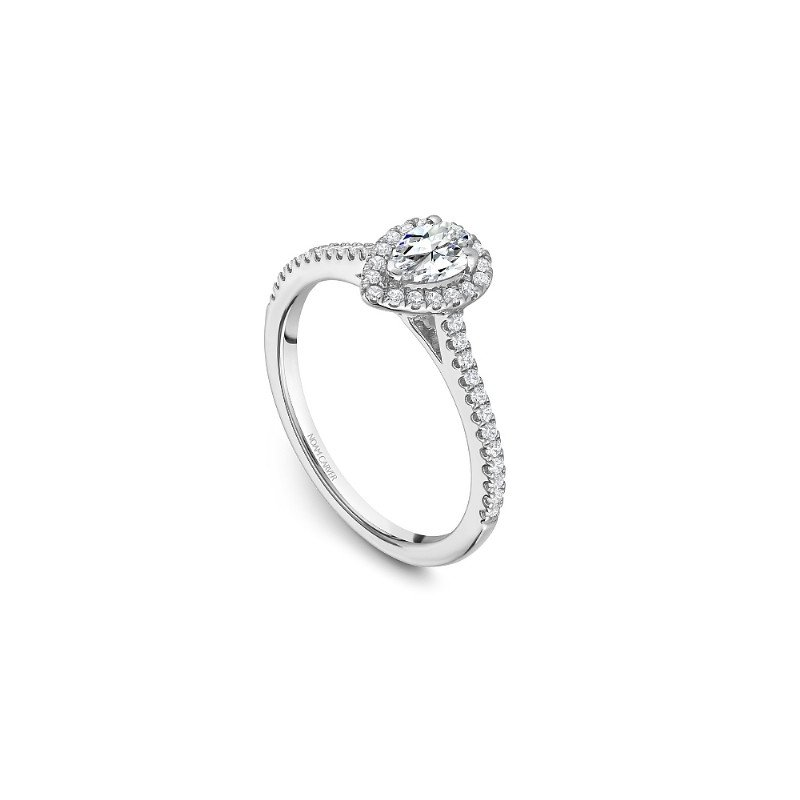 Noam Carver 0.33CT Pear Shaped Halo Engagement Ring