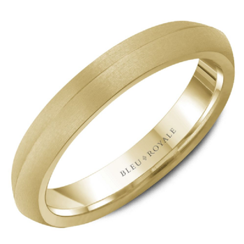 Frosted Yellow Gold Wedding Band