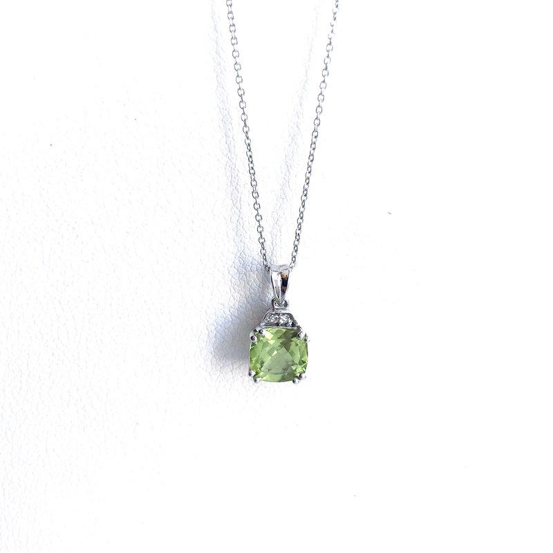 Karat Imports Peridot & Diamond Necklace