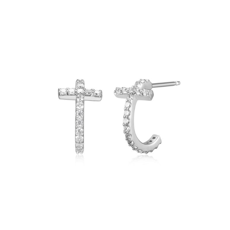 Reign Cross Hoop Earrings