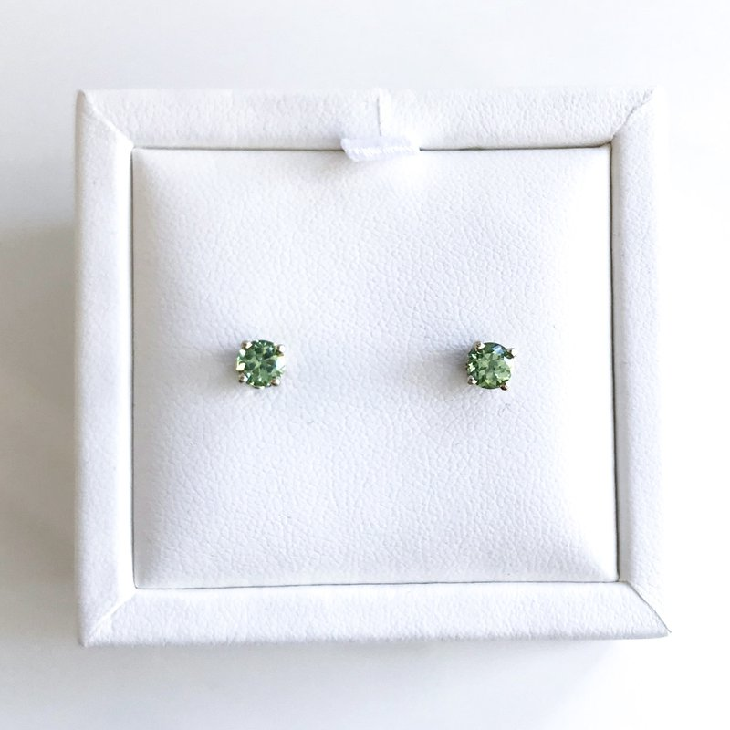 HJ Gemstone Collection Demantoid Garnet Stud Earrings