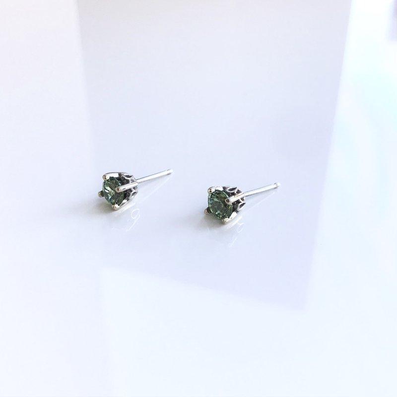 HJ Gemstone Collection Demantoid Garnet Stud Earrings