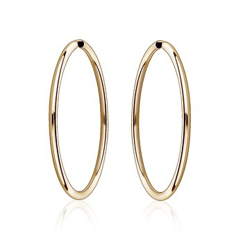 Gold Hoop Earrings (40mm)