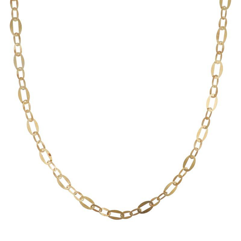 Etrusca Gioielli Long Velvet Open Link Necklace