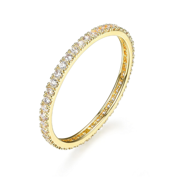 Gold Plated Cubic Zirconia Eternity Ring