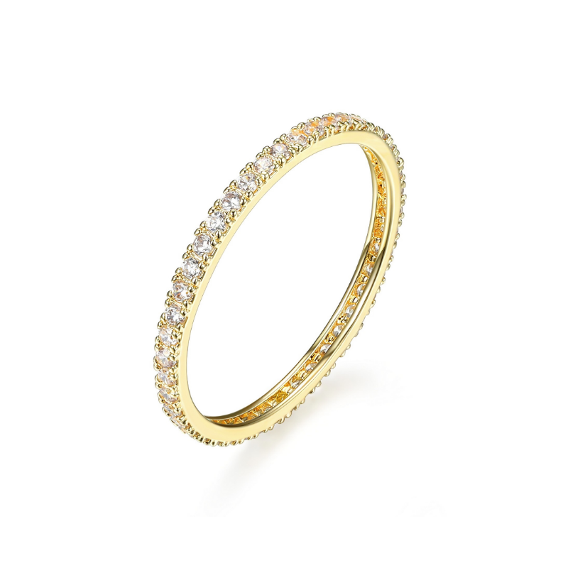 Reign Gold Plated Cubic Zirconia Eternity Ring
