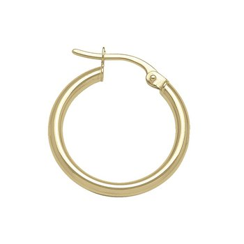 Plain Round Hoop Earrings (20mm)