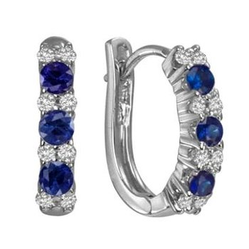 Diamond & Sapphire Earrings