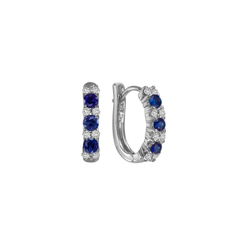 Max Strauss Diamond & Sapphire Earrings