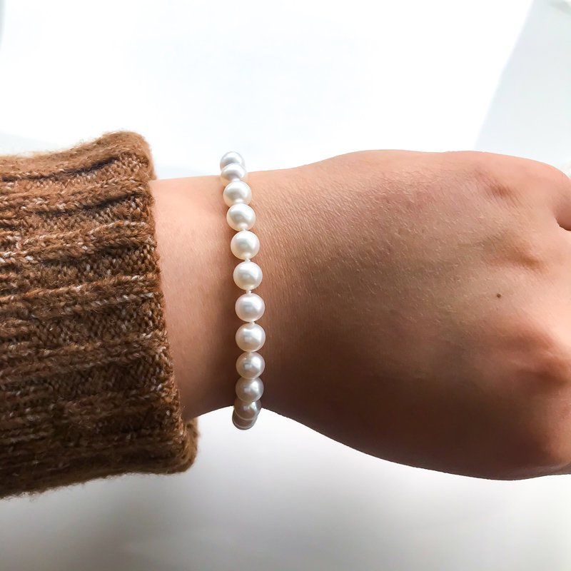 HJ Pearl Collection Freshwater Pearl Bracelet (6.5-7mm)