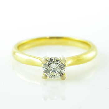 0.50CT Yellow Gold Solitaire Engagement Ring