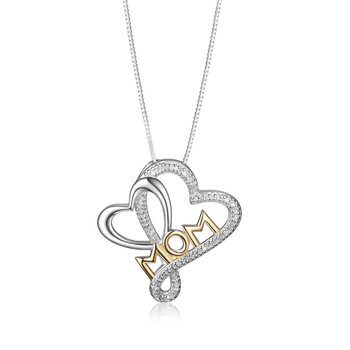 """Sterling Silver """"Mom"""" Necklace"""