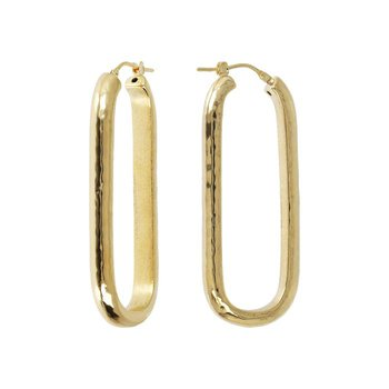 Elongated Rectangular Hoop Earrings