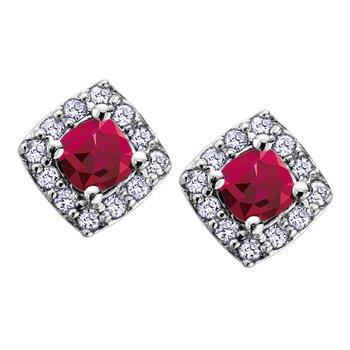 Ruby Birthstone Earrings