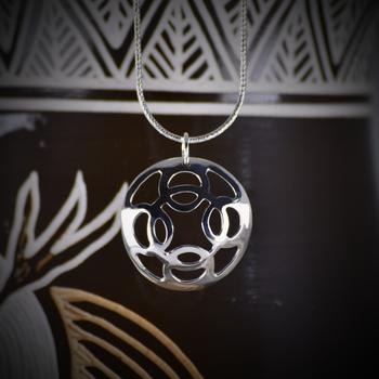 "Trade Silver Modern Necklace (20"")"