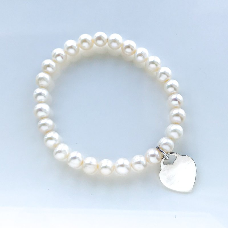 HJ Pearl Collection White Pearl Stretch Bracelet